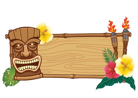 wooden sign blank of tiki design