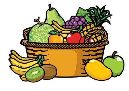bunch of fruits in the basket