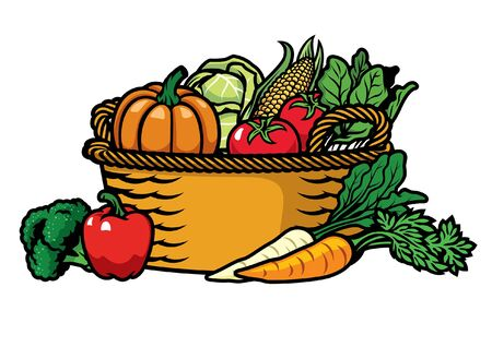 bunch of vegetables in the basket