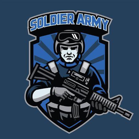 Sldier Army Abzeichen Maskottchen
