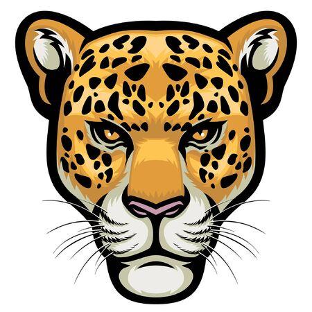 head of leopard mascot