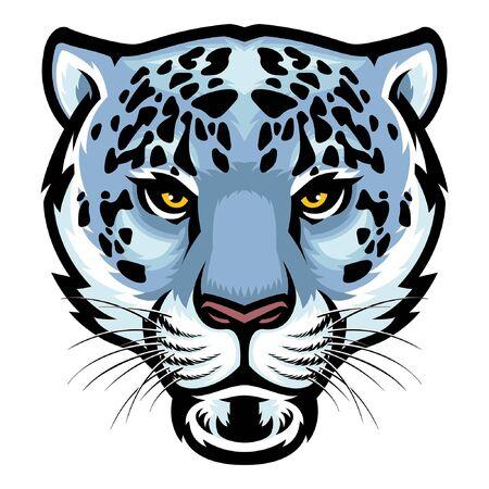 head of snow leopard mascot