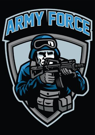 army force military badge design