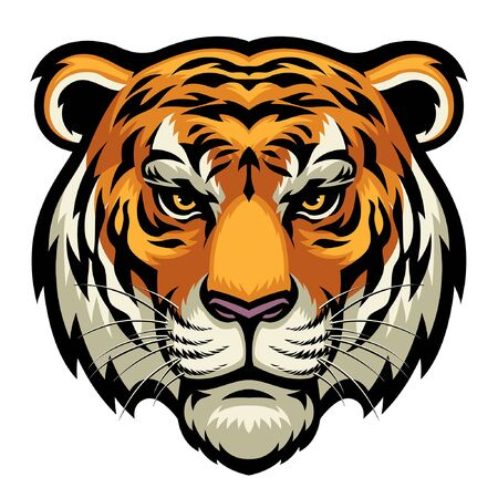 head of tiger mascot Illustration