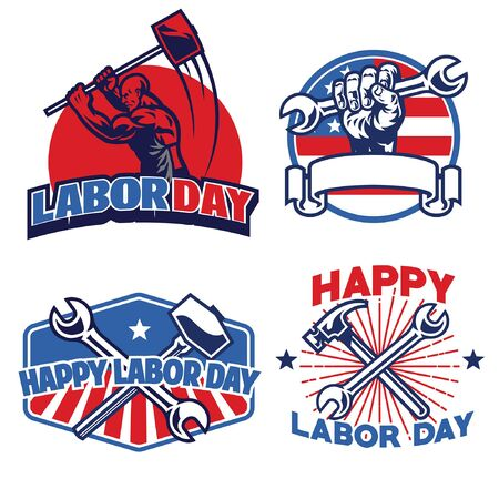 set of bundle labor day design