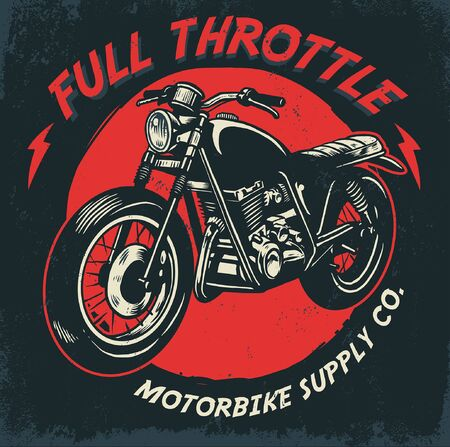 t-shirt vintage retro motorcycle design