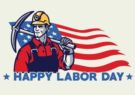 american labor day design