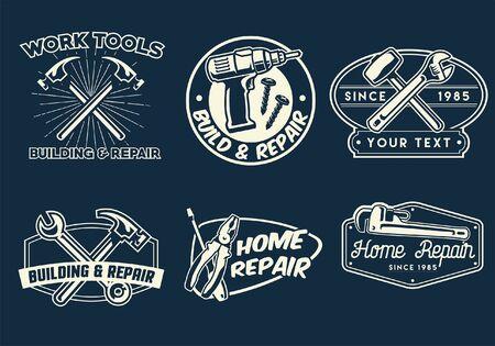 labor badge design set bundle