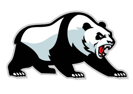 angry giant panda mascot