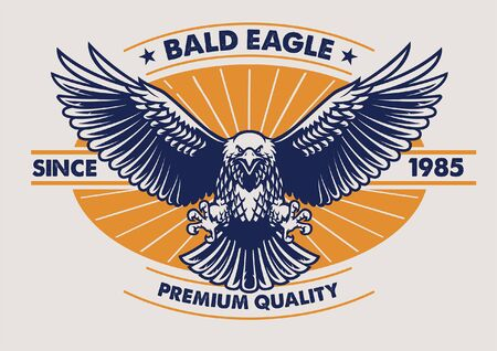 bald eagle vintage design