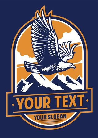 bald eagle badge design