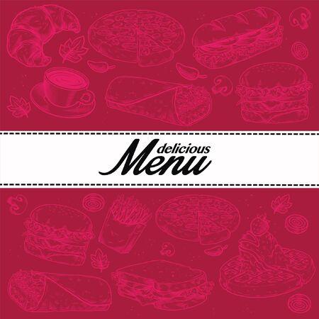 book menu restaurant cover design