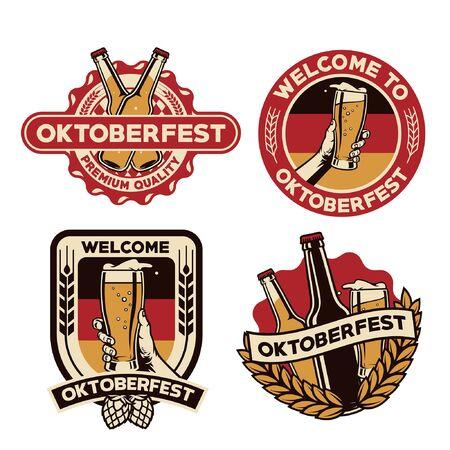 set of bundle badge oktoberfest