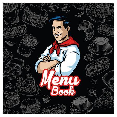 menu book cover design