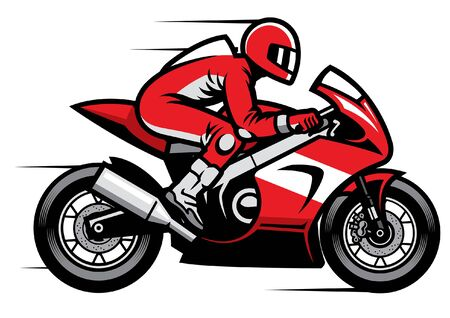 racer ride motorcycle fast