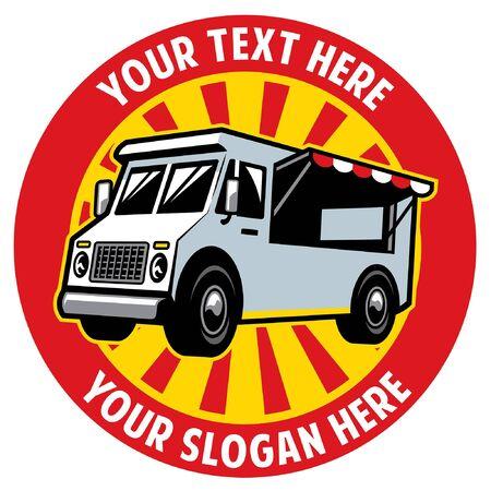 food truck design badge 向量圖像