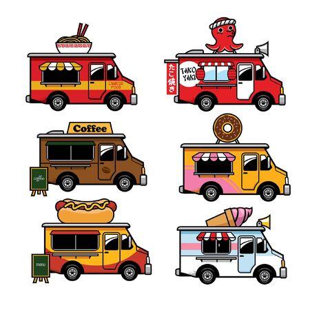 food truck cartoon set collection