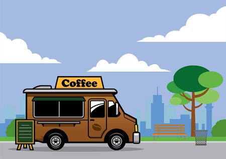 coffee food truck at park