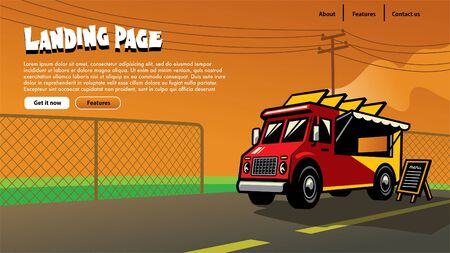landing page design of food truck theme