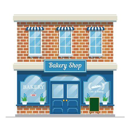 bakery shop vector building Banco de Imagens - 134100502