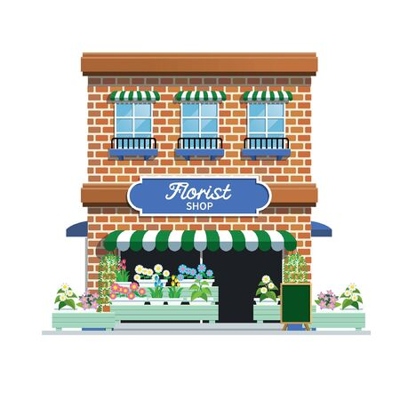 florist shop building vector Banco de Imagens - 134100558