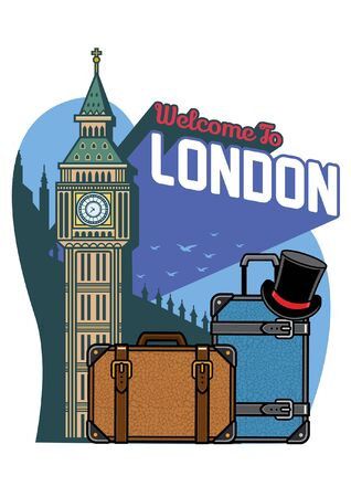 big ben of london and travel case