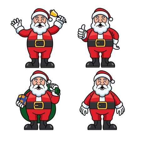 set bundle of happy santa clause