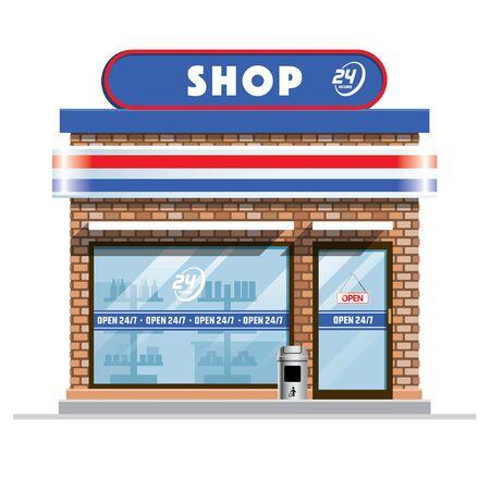 small convenience store  イラスト・ベクター素材