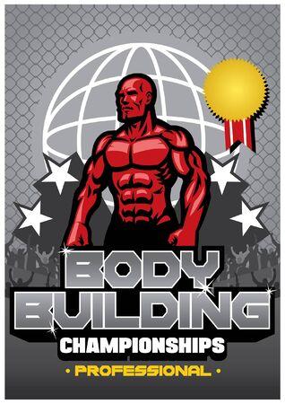 body building championship poster design