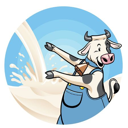 cute dairy cow cartoon