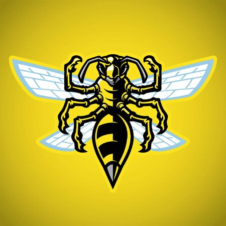 vector of yellow hornet hasp