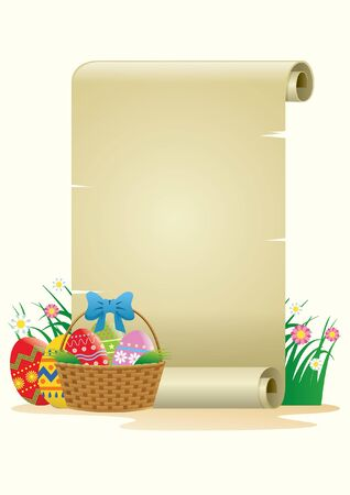 blank paper with some easter eggs