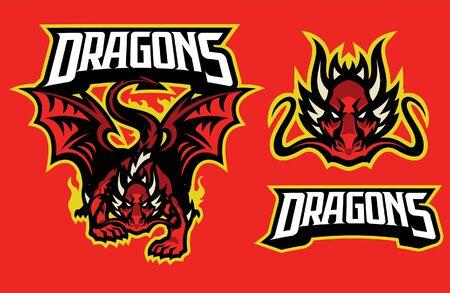 dragon mascot set collection