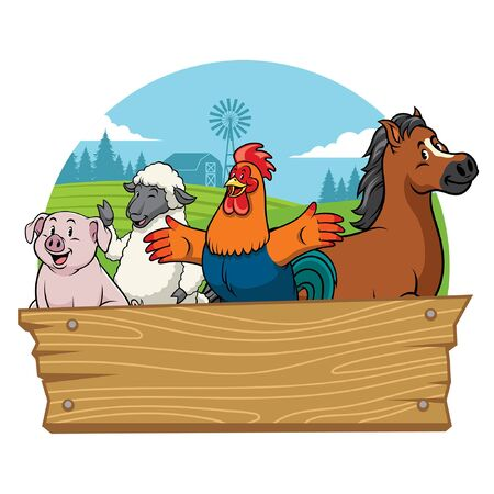 happy livestock animal character