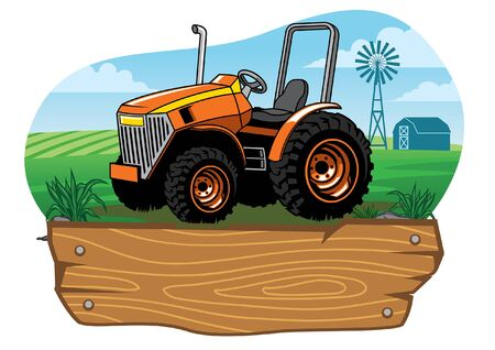 farming tractor in farmland
