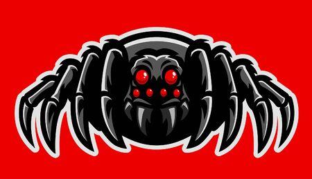 wild poisonous tarantula vector style