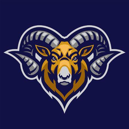 head of ram mascot design
