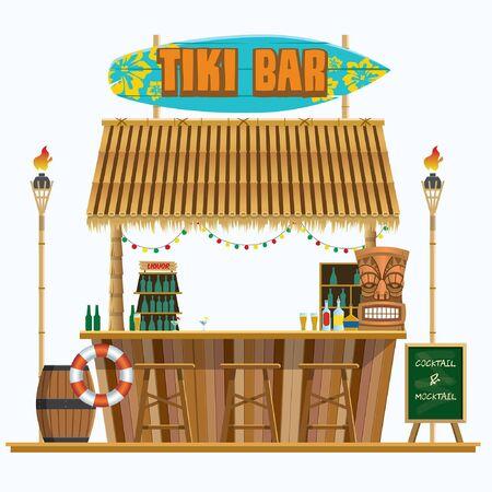 tiki bar stall Ilustrace