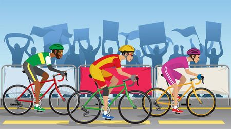 bicycle race at cycling tournament Illustration