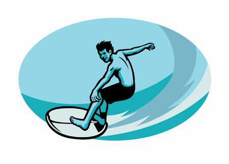 surfer riding his surfboard