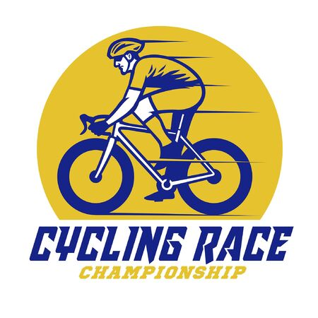 cycling race simple vector