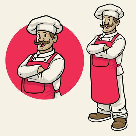 adult chef mascot set