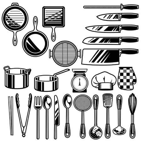 set bundle of kitchen appliances Illustration
