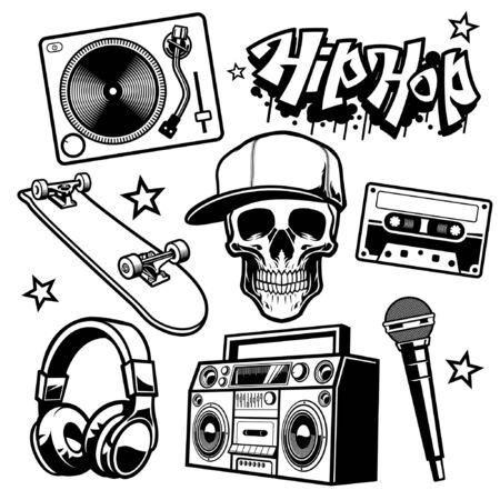 set bundle of hiphop objects