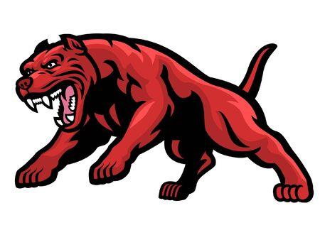 angry barking pitbull dog