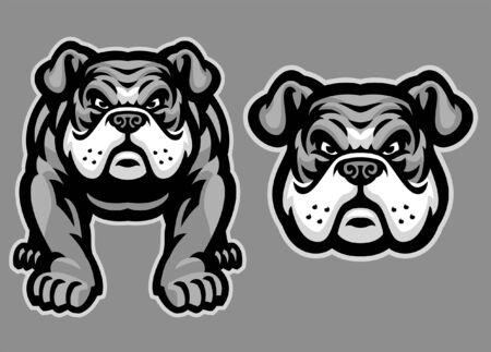 set pack of english bulldog Banco de Imagens - 136213640