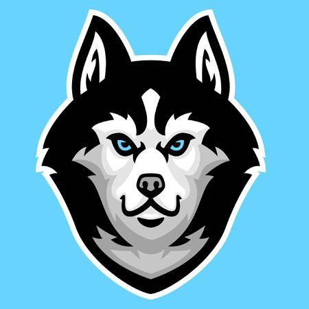 head mascot of siberian husky dog