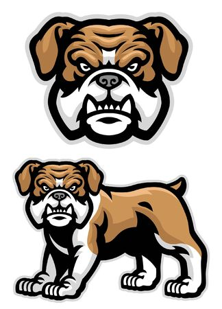 set of english bulldog character Banco de Imagens - 136213653