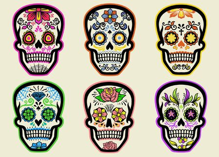 set bundle of sugar skull collection