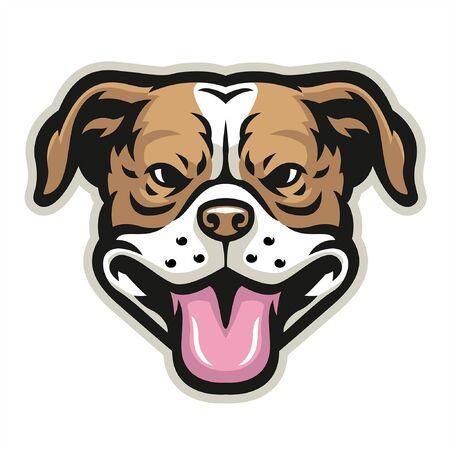 head of pit bull head Banco de Imagens - 136214679